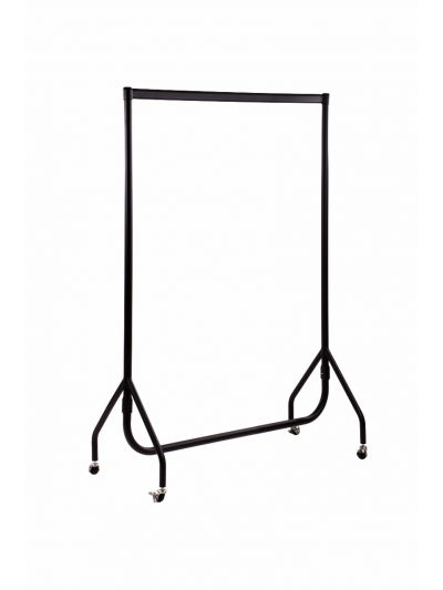 Set van 2 kledingrekken sterk zwart 120 cm bxhxd 120x156x52 cm