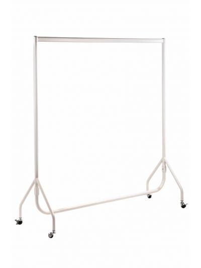 Set van 2 kledingrekken sterk mat wit 150 cm bxhxd 150x158x54 cm