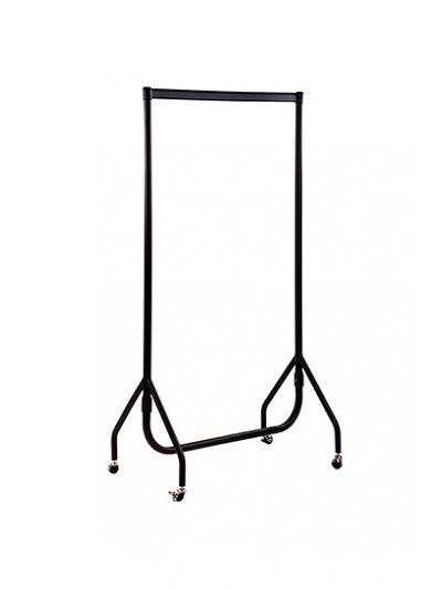 Kledingrek sterk zwart 90 cm bxhxd 90x156x52 cm