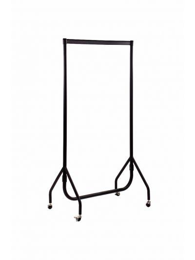 Set van 2 kledingrekken sterk zwart 90 cm bxhxd 90x156x52 cm