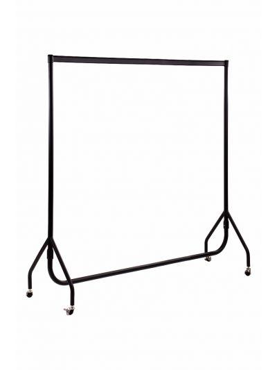 Set van 2 kledingrekken sterk zwart 200 cm bxhxd 200x156x52 cm
