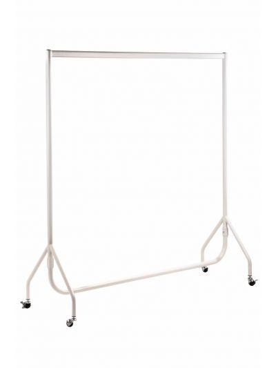 Kledingrek extra sterk mat wit 150 cm bxhxd 150x158x54 cm