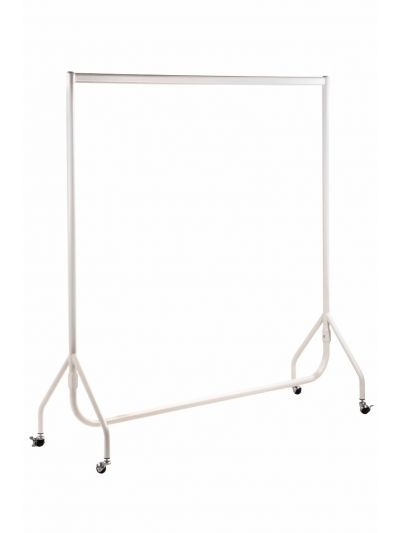 Set van 2 kledingrekken extra sterk mat wit 150 cm bxhxd 150x158x54 cm