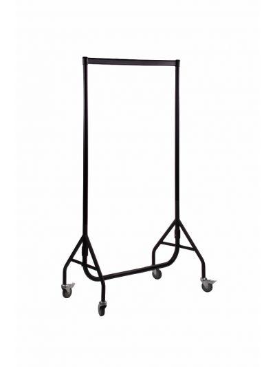 Set van 2 kledingrekken extra sterk zwart 90 cm bxhxd 90x158x54 cm
