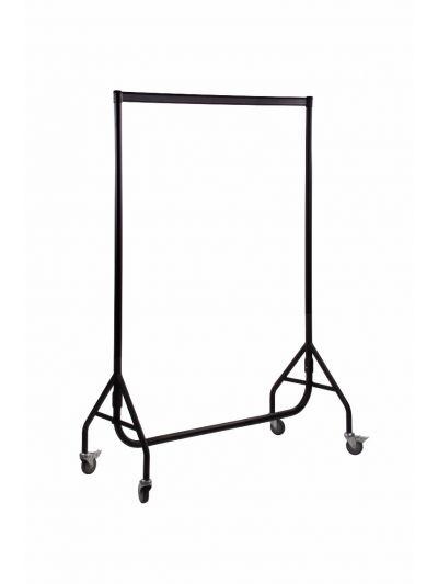 Set van 2 kledingrekken extra sterk zwart 120 cm bxhxd 120x158x54 cm