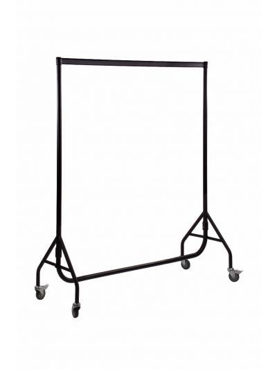 Set van 2 kledingrekken extra sterk zwart 150 cm bxhxd 150x158x54 cm