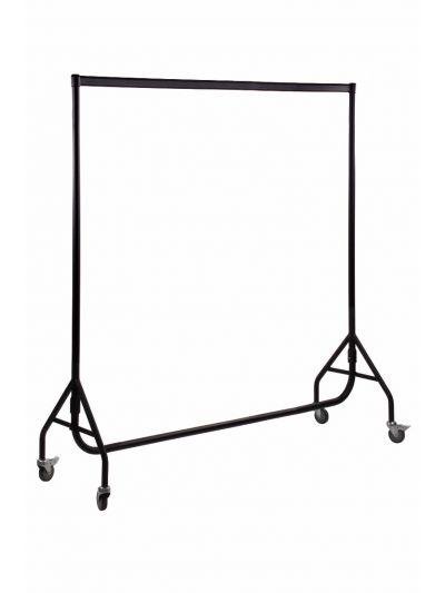 Set van 2 kledingrekken extra sterk zwart 180 cm bxhxd 180x158x54 cm