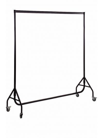 Set van 2 kledingrekken extra sterk zwart 200 cm bxhxd 200x158x54