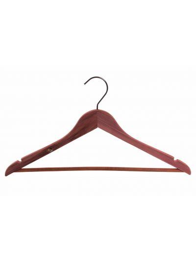 Set 5 kledinghangers flat body met inkepingen en hanglat