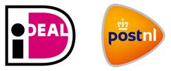 veilig betalen met iDeal, verzenden per Post NL